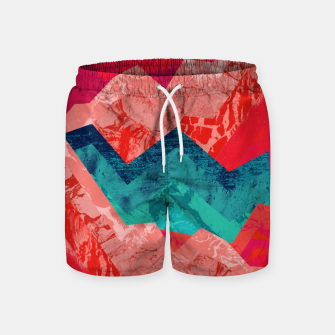 The red textured hills  Swim Shorts miniature