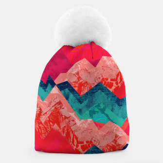 The red textured hills  Beanie Bild der Miniatur