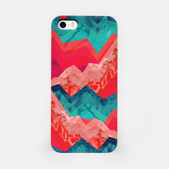 The red textured hills  iPhone Case miniature