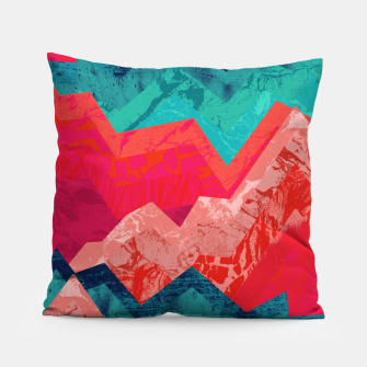 The red textured hills  Pillow thumbnail image