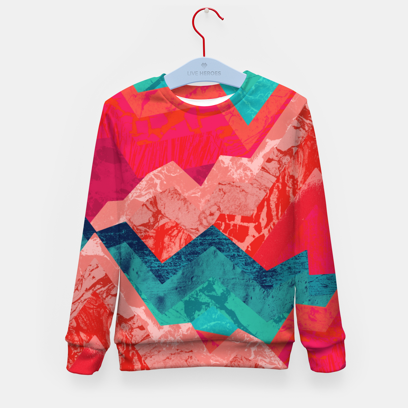 Image de The red textured hills  Kid's sweater - Live Heroes