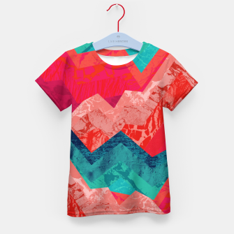 The red textured hills  Kid's t-shirt Bild der Miniatur