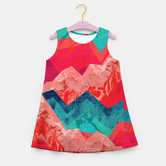 The red textured hills  Girl's summer dress miniature