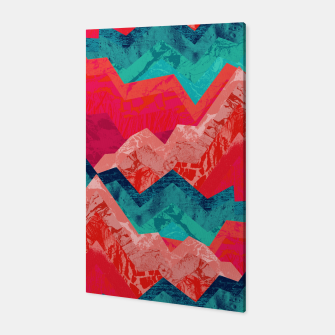The red textured hills  Canvas miniature