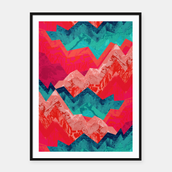 The red textured hills  Framed poster miniature