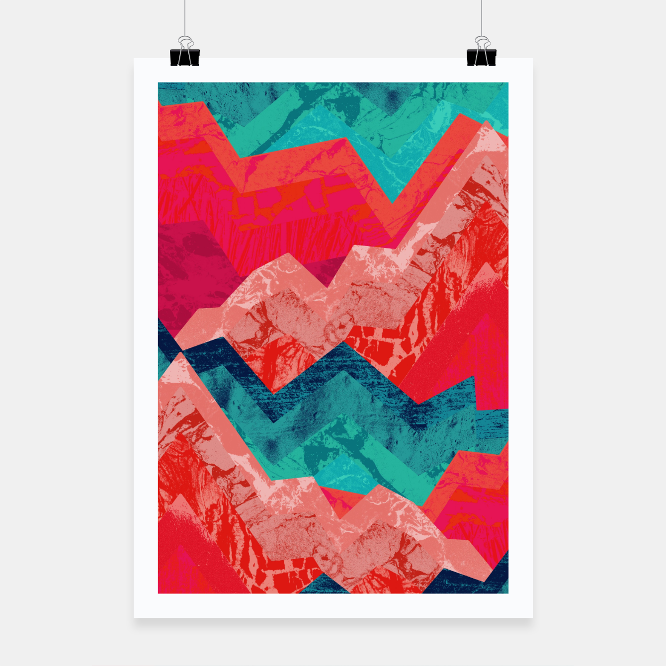Image of The red textured hills  Poster - Live Heroes