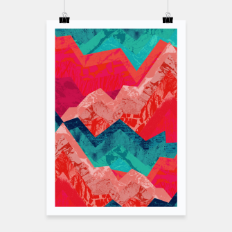 The red textured hills  Poster miniature