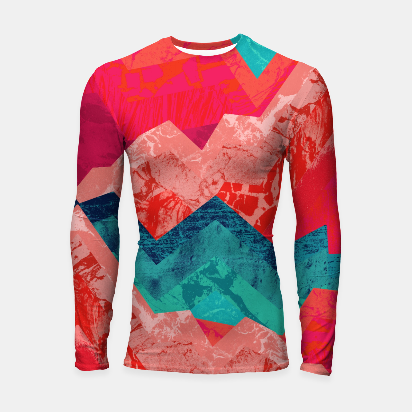 Image of The red textured hills  Longsleeve rashguard  - Live Heroes