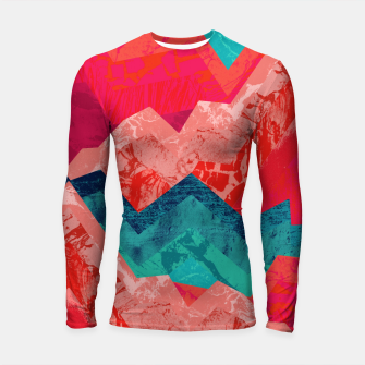 The red textured hills  Longsleeve rashguard  Bild der Miniatur