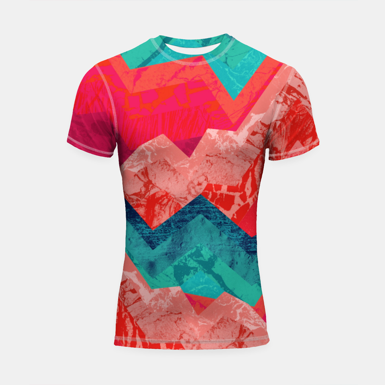 Image of The red textured hills  Shortsleeve rashguard - Live Heroes