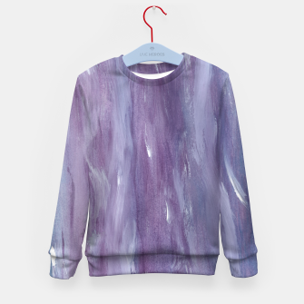 Miniaturka Touching Purple Blue Watercolor Abstract #1 #painting #decor #art  Kindersweatshirt, Live Heroes