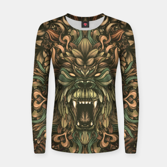 Thumbnail image of Jungle Woman cotton sweater, Live Heroes