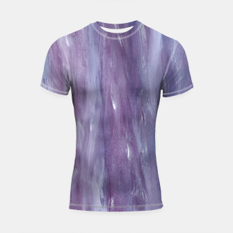 Miniaturka Touching Purple Blue Watercolor Abstract #1 #painting #decor #art  Shortsleeve rashguard, Live Heroes