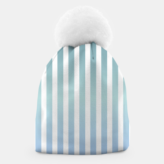 Thumbnail image of Soft pastel pinstripe Beanie, Live Heroes