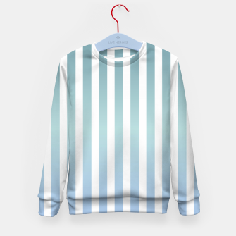 Thumbnail image of Soft pastel pinstripe Kid's sweater, Live Heroes