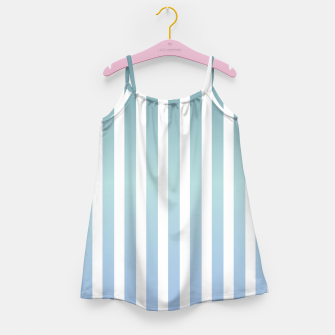 Thumbnail image of Soft pastel pinstripe Girl's dress, Live Heroes