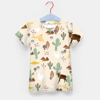 Thumbnail image of Dreamy Desert Kid's t-shirt, Live Heroes