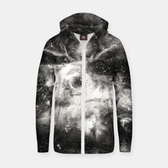 Thumbnail image of Black & White Galaxy Cotton zip up hoodie, Live Heroes