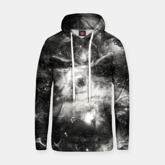 Thumbnail image of Black & White Galaxy Cotton hoodie, Live Heroes