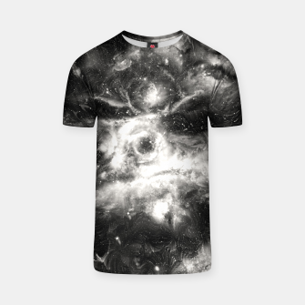 Thumbnail image of Black & White Galaxy T-shirt, Live Heroes