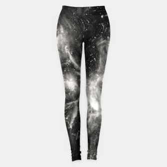 Thumbnail image of Black & White Galaxy Leggings, Live Heroes