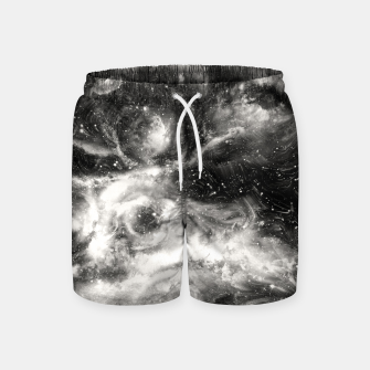 Thumbnail image of Black & White Galaxy Swim Shorts, Live Heroes