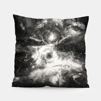 Thumbnail image of Black & White Galaxy Pillow, Live Heroes