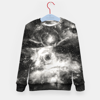 Thumbnail image of Black & White Galaxy Kid's sweater, Live Heroes