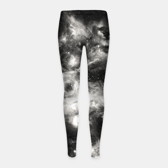 Thumbnail image of Black & White Galaxy Girl's leggings, Live Heroes
