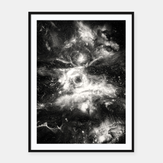 Thumbnail image of Black & White Galaxy Framed poster, Live Heroes