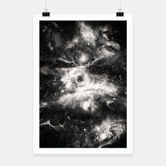 Thumbnail image of Black & White Galaxy Poster, Live Heroes