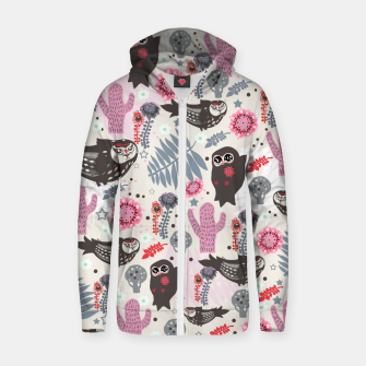 Thumbnail image of Playful Forest Cotton zip up hoodie, Live Heroes