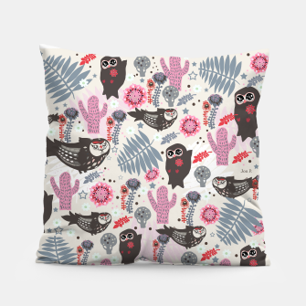Thumbnail image of Playful Forest Pillow, Live Heroes