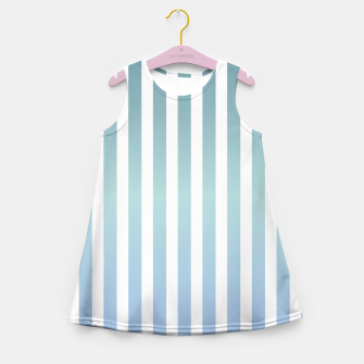 Miniaturka Soft pastel pinstripe Girl's summer dress, Live Heroes
