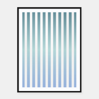 Thumbnail image of Soft pastel pinstripe Framed poster, Live Heroes