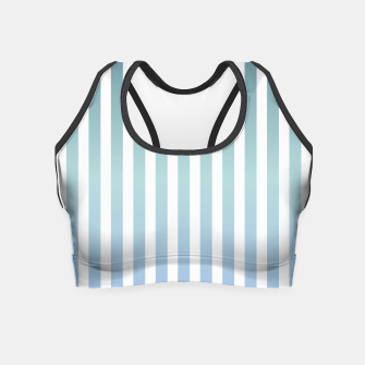 Thumbnail image of Soft pastel pinstripe Crop Top, Live Heroes