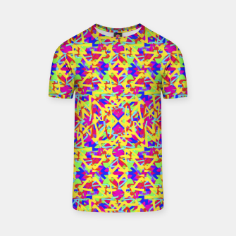 Thumbnail image of Multicolored Linear Pattern Design T-shirt, Live Heroes