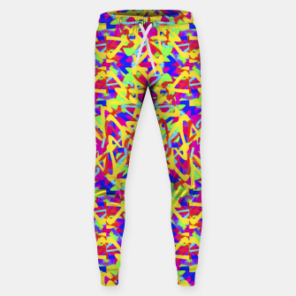 Thumbnail image of Multicolored Linear Pattern Design Cotton sweatpants, Live Heroes