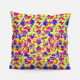 Thumbnail image of Multicolored Linear Pattern Design Pillow, Live Heroes