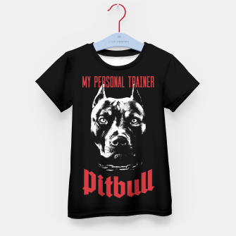 Thumbnail image of Pitbull My Personal Trainer Kid's t-shirt, Live Heroes