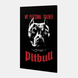Thumbnail image of Pitbull My Personal Trainer Canvas, Live Heroes