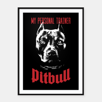 Thumbnail image of Pitbull My Personal Trainer Framed poster, Live Heroes
