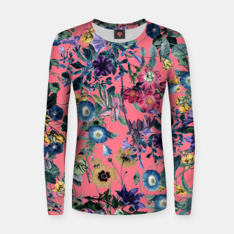 Surreal Floral Woman cotton sweater Bild der Miniatur