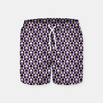 Imagen en miniatura de Glitch Checkered Skulls Pattern IV Swim Shorts, Live Heroes