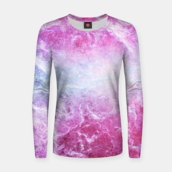 Miniaturka Enigmatic Pink Purple Blue Marble #1 #decor #art Frauen baumwoll sweatshirt, Live Heroes