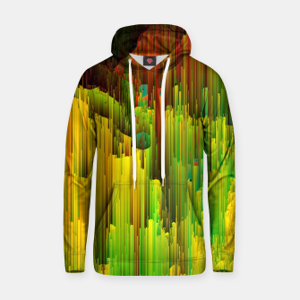 Miniatur Organic Geometry - Glitchy Abstract Pixel Art Cotton hoodie, Live Heroes