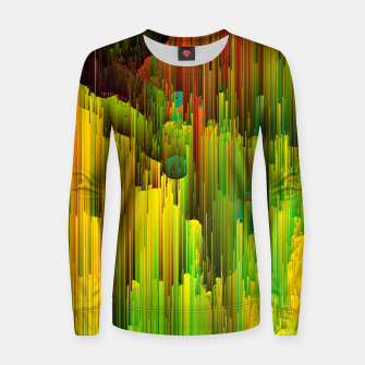 Miniaturka Organic Geometry - Glitchy Abstract Pixel Art Woman cotton sweater, Live Heroes