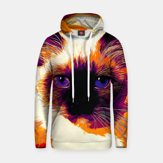 Miniatur gxp holy birma cat blue eyes vector art late sunset Cotton hoodie, Live Heroes