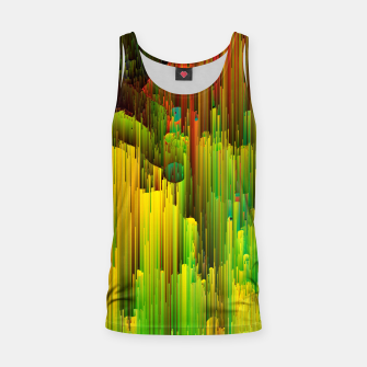 Miniatur Organic Geometry - Glitchy Abstract Pixel Art Tank Top, Live Heroes