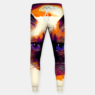 Thumbnail image of gxp holy birma cat blue eyes vector art late sunset Cotton sweatpants, Live Heroes